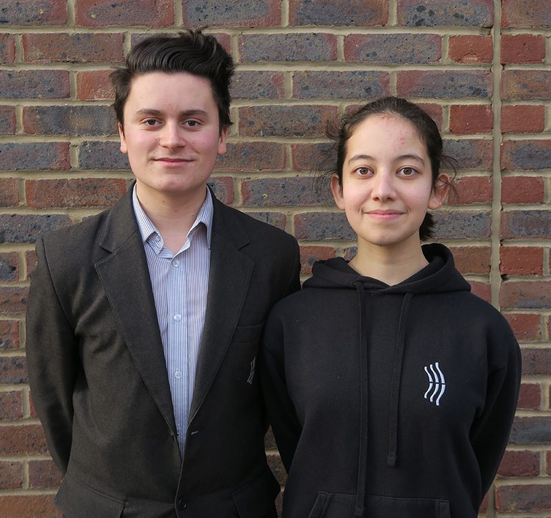 Alex W - Deputy Head Boy and Rio J - Deputy Head Girl