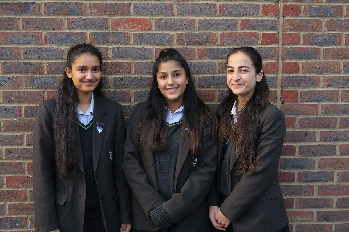 Isabelle S, Sehr N and Maha K - Senior Prefects