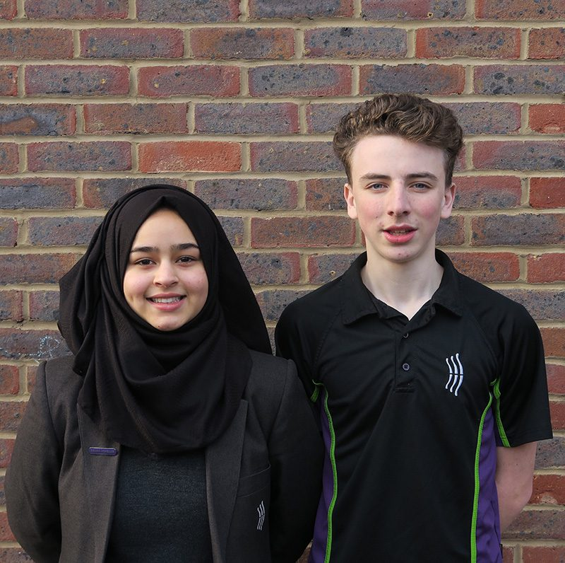 Zeina K - Head Girl and Alex M-S - Head Boy